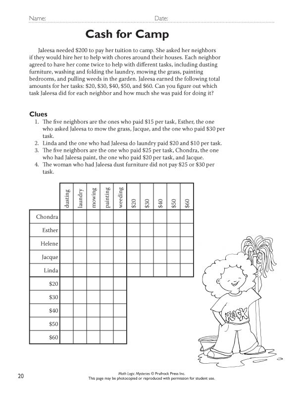Mrs Garnet Mrs Garnet at PVPHS – Logic Puzzles Worksheets