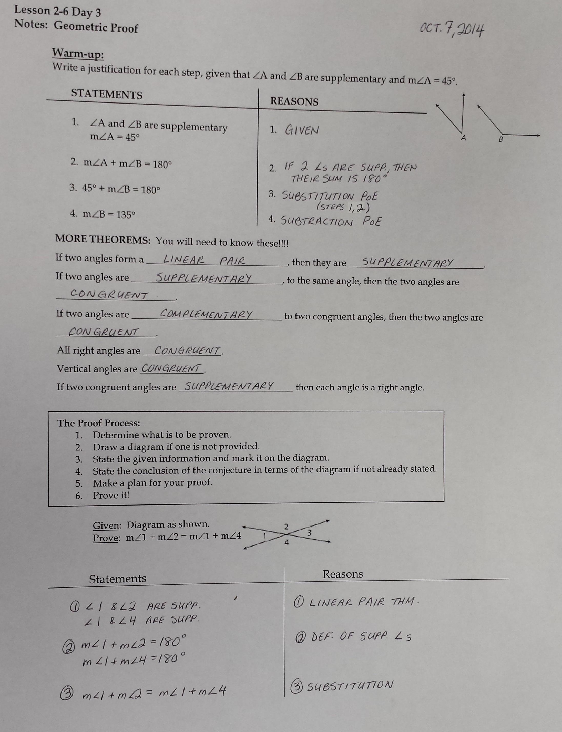 Mrs Garnet Mrs Garnet at PVPHS – Geometry Proofs Worksheets with Answers