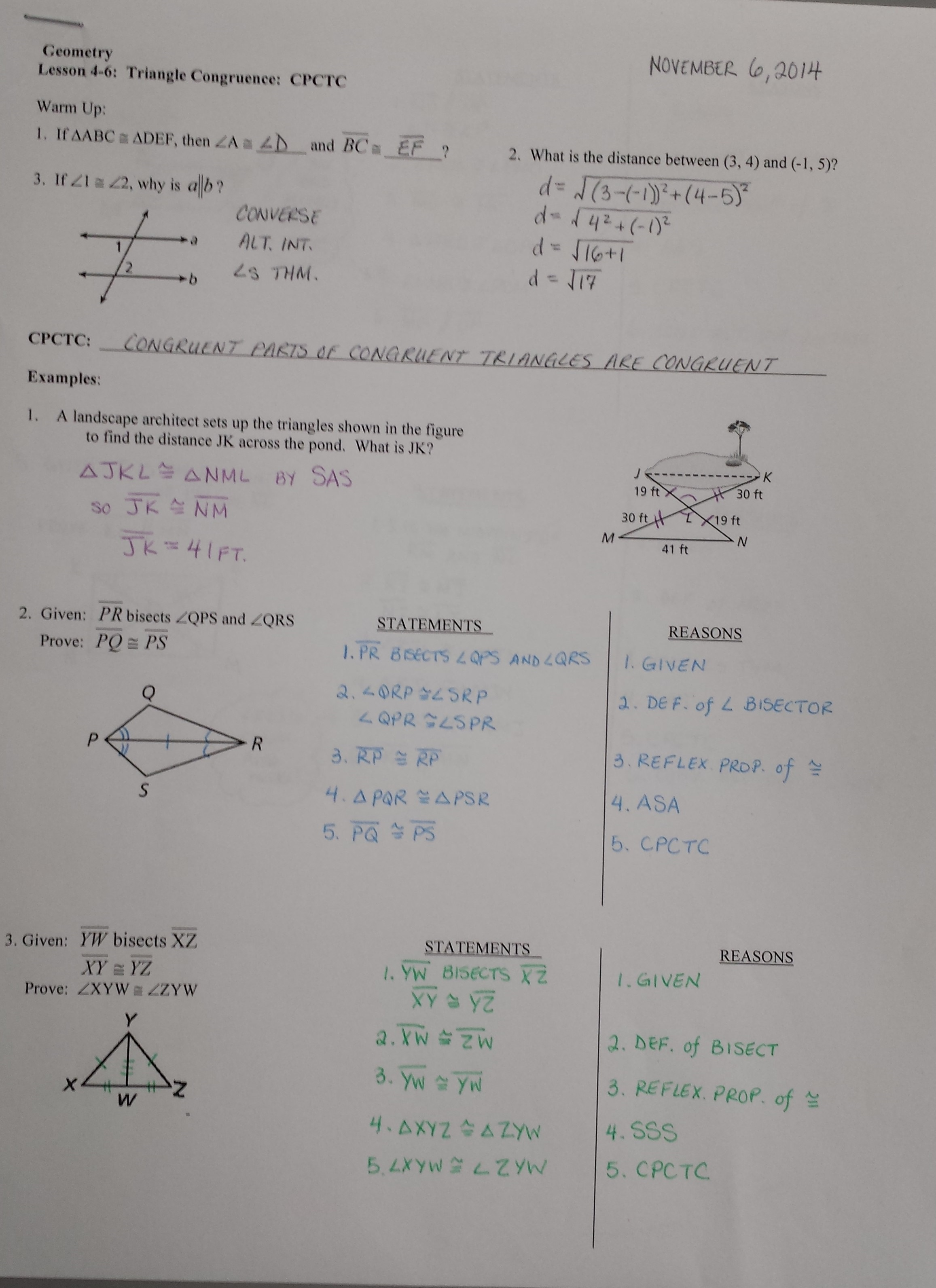 Mrs Garnet Mrs Garnet at PVPHS – Triangle Proofs Worksheet