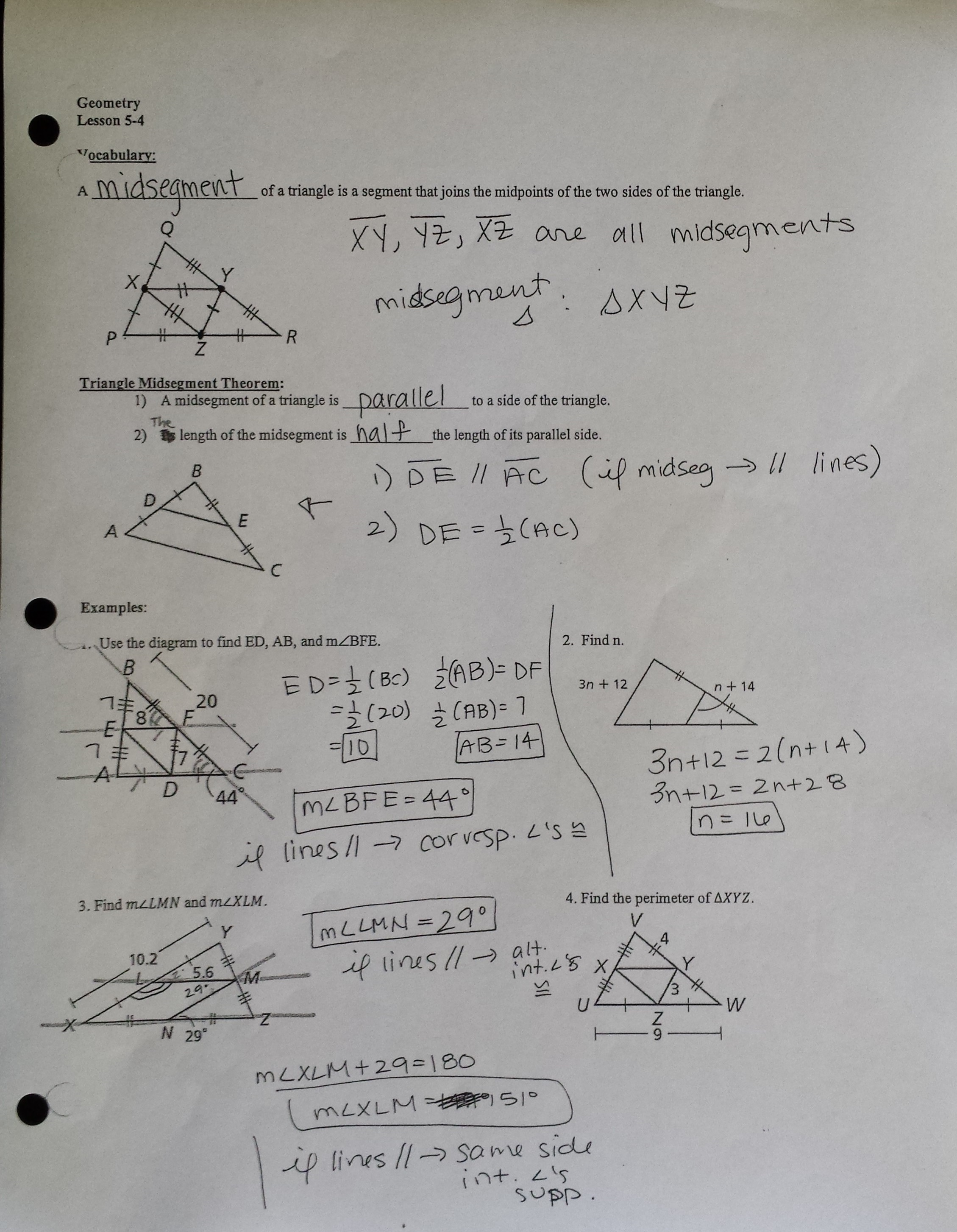 7 3 Proving Triangles Similar Form G Worksheet Answers ...