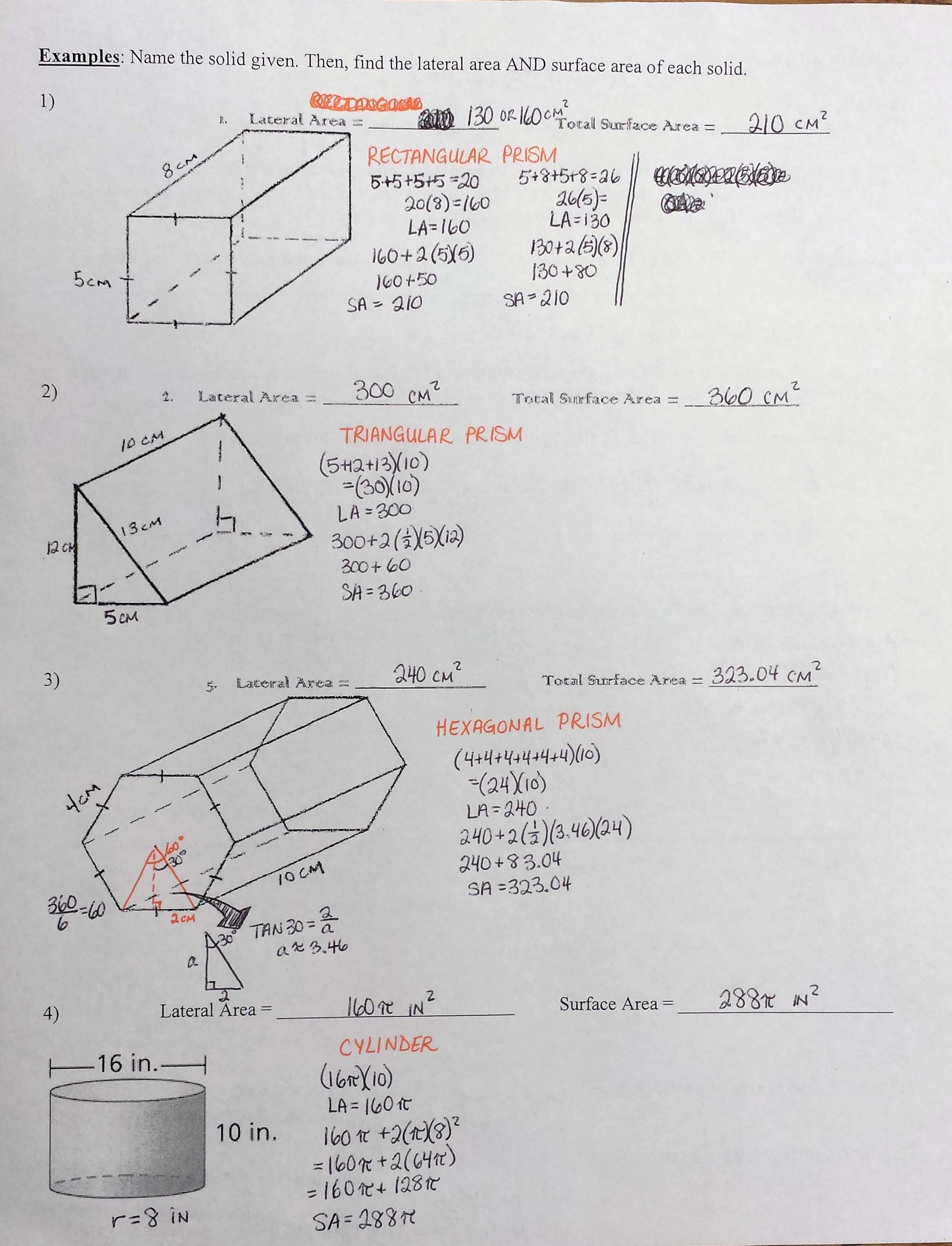 Worksheet Surface Area Of A Prism Worksheet Grass Fedjp Worksheet