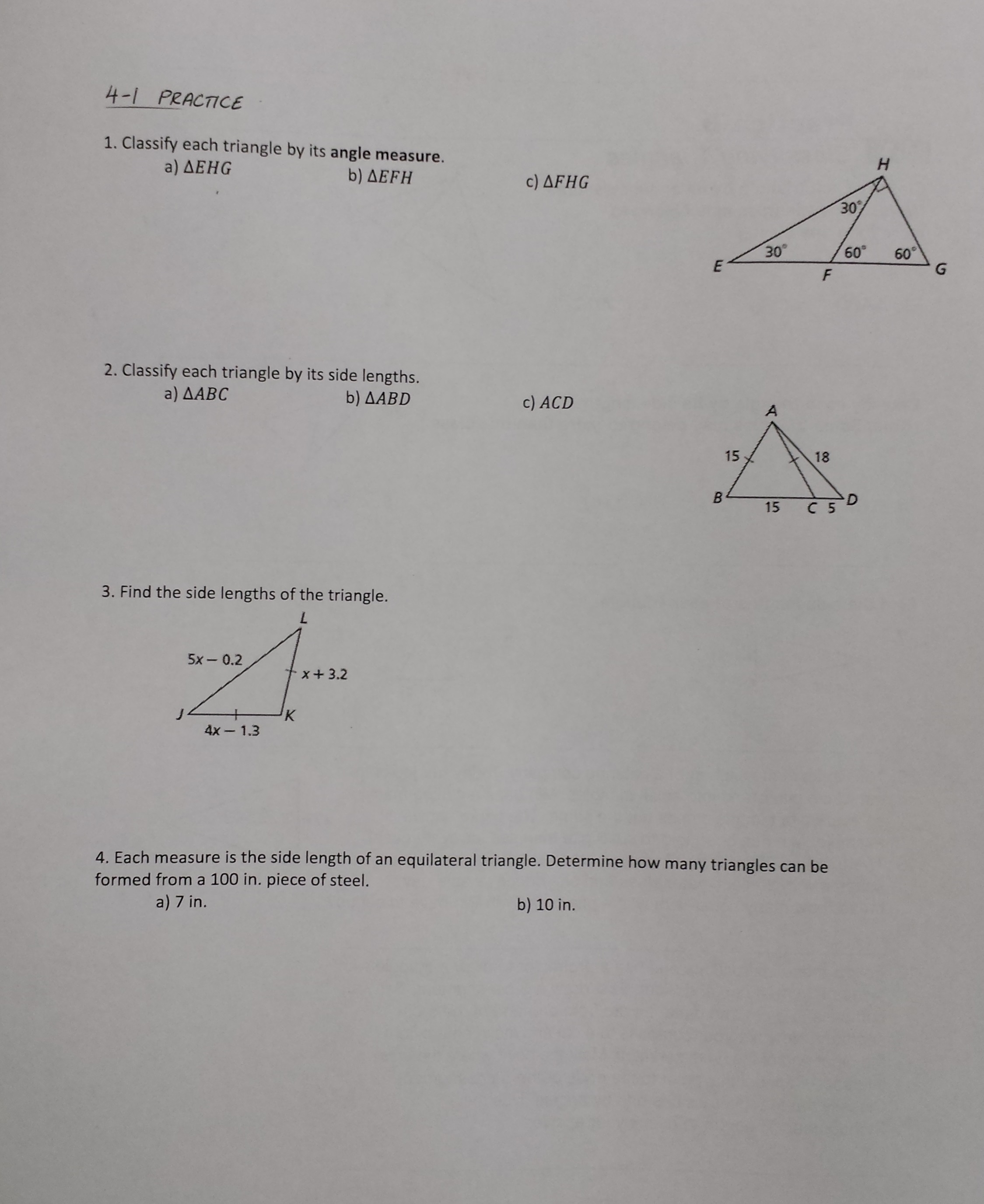 proving triangles congruent worksheet pdf