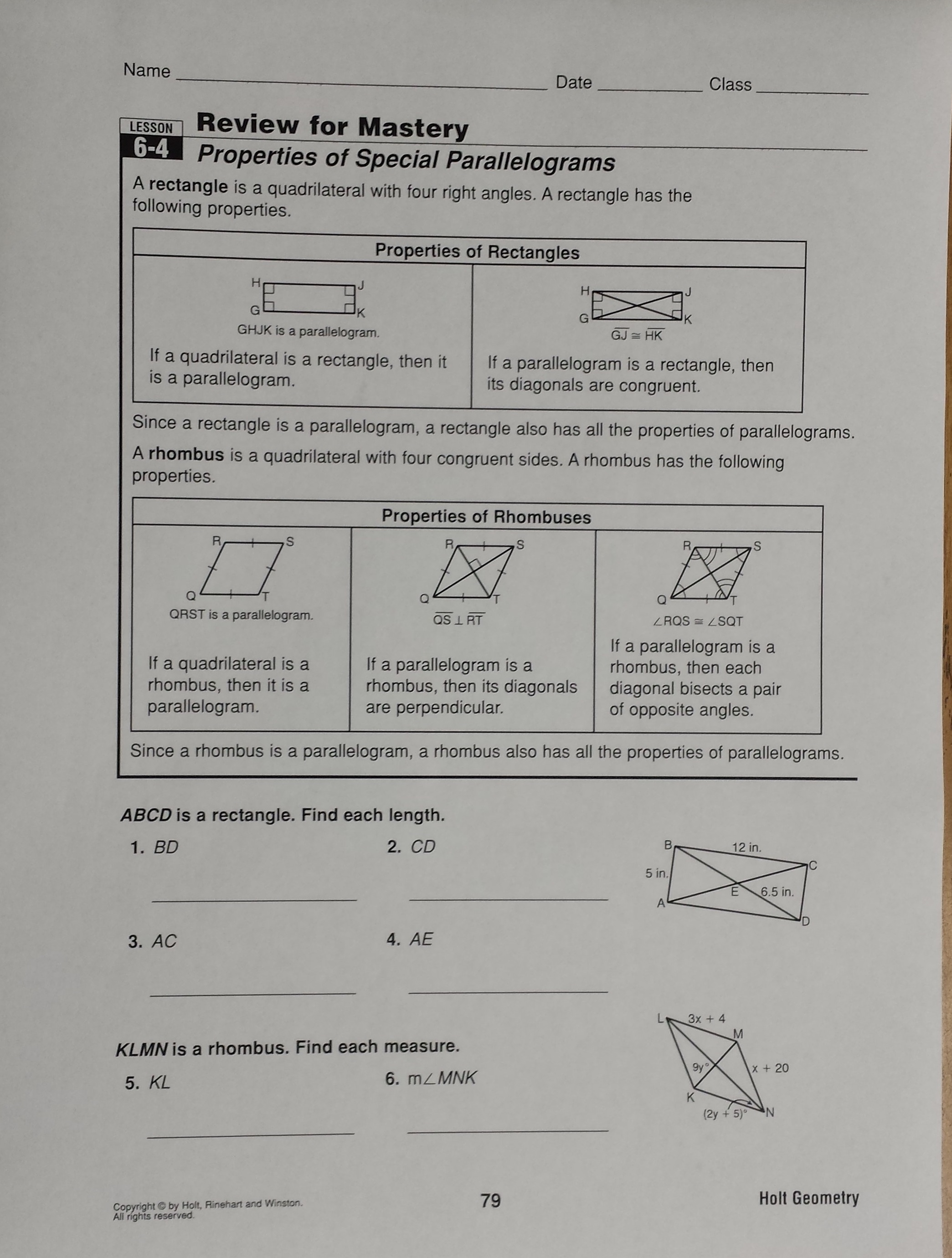 worksheet Kite And Trapezoid Properties Worksheet mrs garnet at pvphs 6 notes properties of kites and trapezoids page 1 2 warmup writing assignment turned in